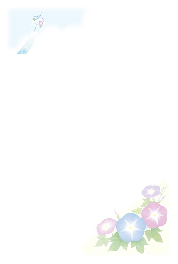 絵入りかもめ~る 朝顔と風鈴(裏)